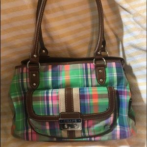 Chaps -Multi Color ,Plaid Shoulder Bag